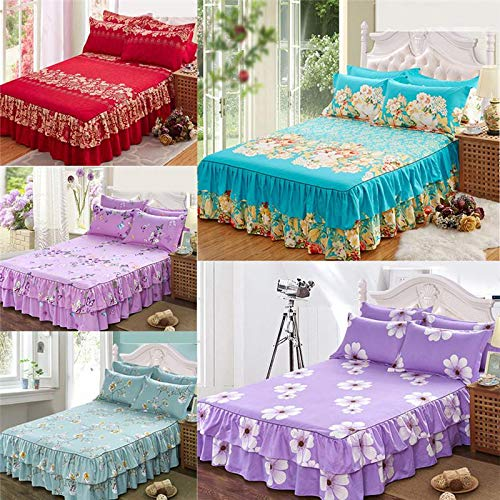 MTOFAGF Queen Bedspread Bed Skirt Thickened Fitted Sheet Single Double Dust Ruffle Pillowcase MTOFAGF Brings You The Best