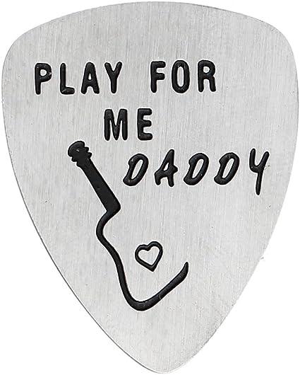 Púa de guitarra para padre, regalo para padre, texto en inglés ...