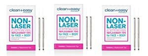 Clean & Easy One Touch Electrolysis Stylet Tips * 3 - Packs (6-tips Total)