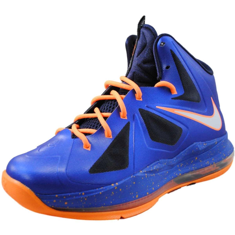 Amazon.com   Nike Kids Lebron 10 X GS Superhero, HYPER BLUE/BRIGHT ORANGE,  543564-401   Shoes