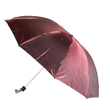 mdrw-fashion paraguas UV Protección Sol Paraguas extra grande paraguas negro plástico anti UV paraguas