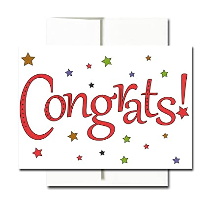 congratulations cards starry congrats box of 30 blank note cards and 32 envelopes - Congratulations Cards