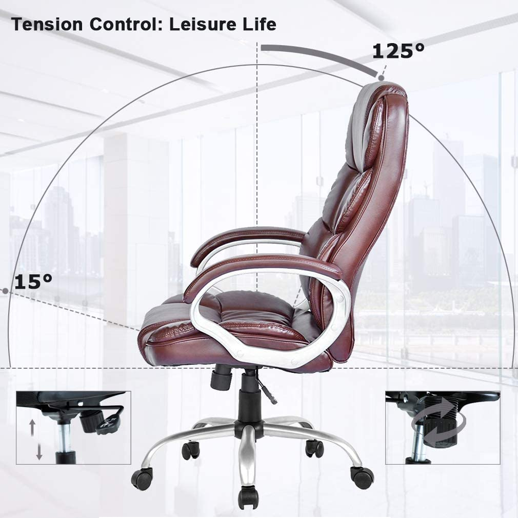 Office Chair Desk Chair Computer Chair Ergonomic Task Rolling Swivel Adjustable Stool High Back Executive Chair