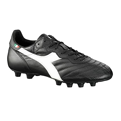 low priced a5cc9 5496c Diadora Men s Brasil Italy OG MD Soccer Cleats, Black Kangaroo Leather,  Polyurethane, 12.5