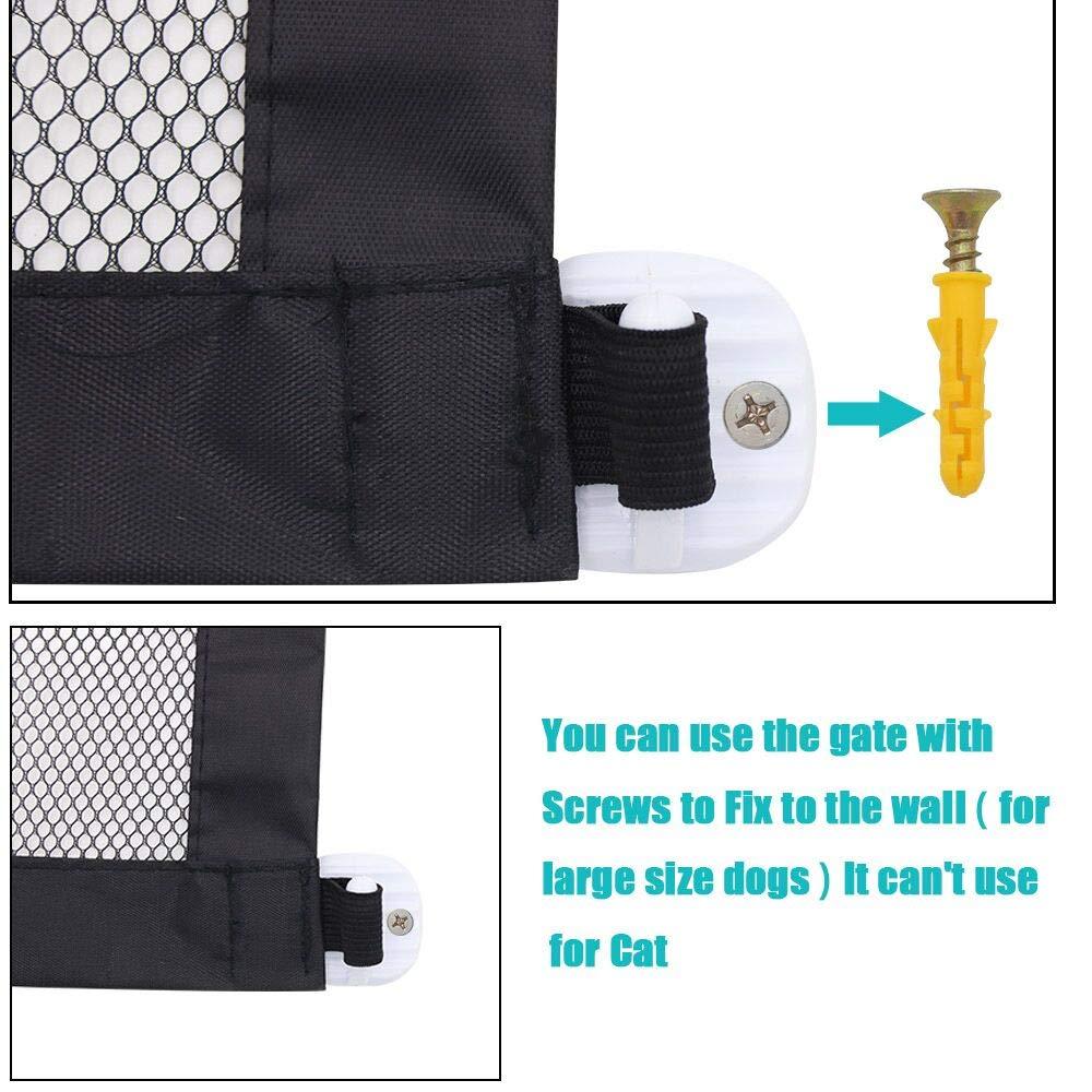 JUSTIDEA Magic Gate Dog Gate Portable Hund Safew/ächter 180x72cm schwarz