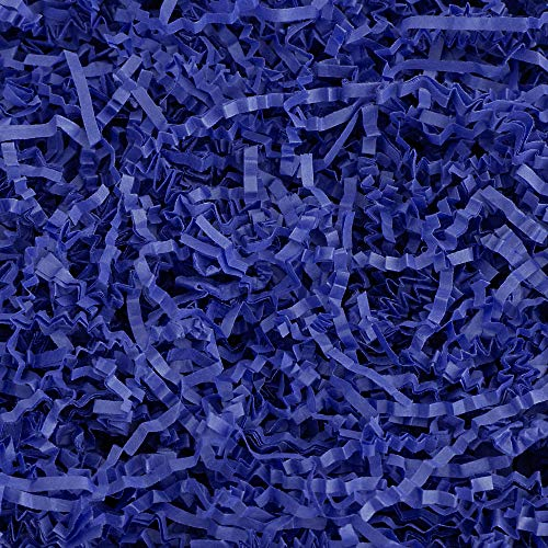 Crinkle Cut Paper Shred Filler (1 LB) for Gift Wrapping & Basket Filling – Royal Blue   MagicWater Supply