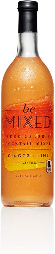 Zero Calorie Ginger Lime Cocktail Mixer by Be Mixed | Low Carb, Keto Friendly, Sugar Free and Gluten Free Drink Mix | 25 ounce Glass Bottle, 1 Count