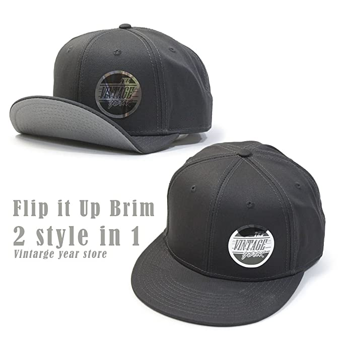 61f6759fdf4 Flat to Full Flip Brim Cotton Twill Bendable Visor Adjustable ...