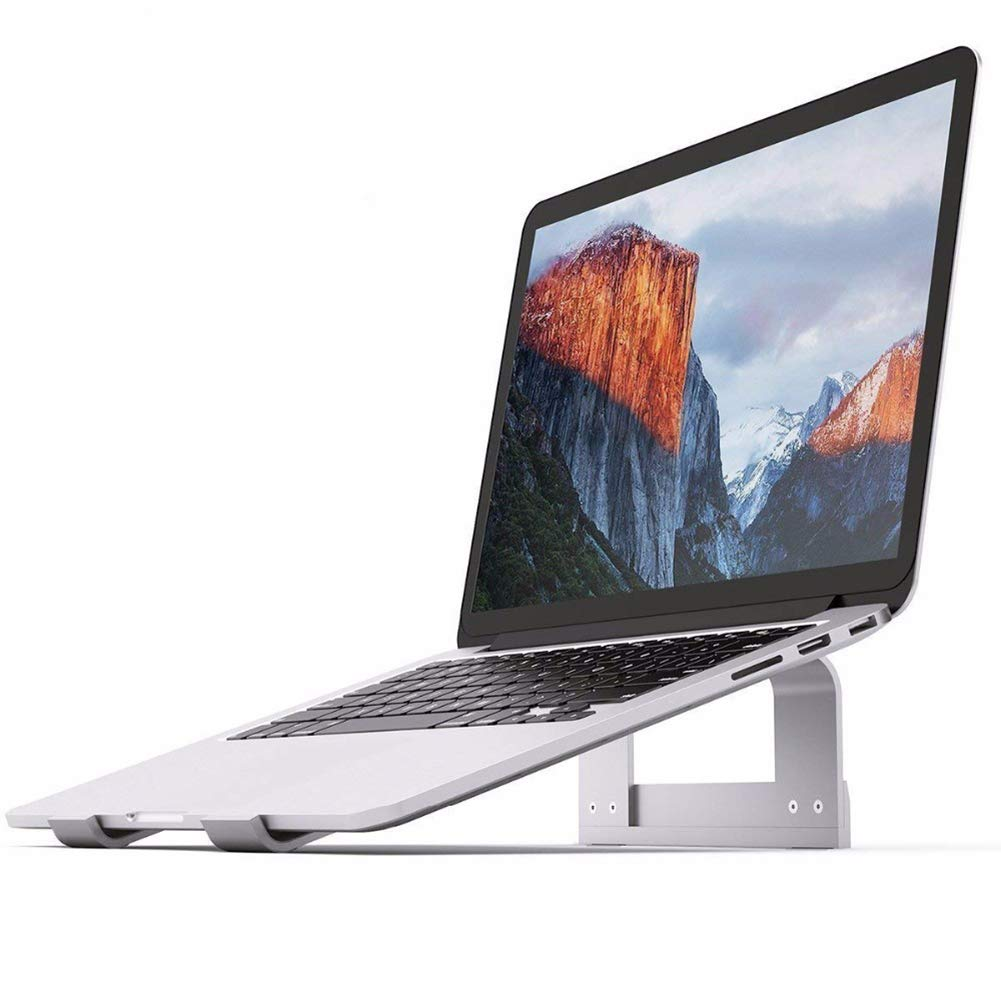 TQZY Laptop Stand, Aluminum Ventilated Stand Ergonomic Notebook Riser Portable Holder for MacBook Pro Air Mini 11-17 inch