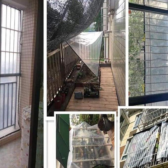 Lona Transparente Impermeable Impermeable Tablero Pesado Plástica Ventana Balcón Flores Borde Perforación Cultivo Invernadero Película 2x2m (Tamaño : 2x6m): ...