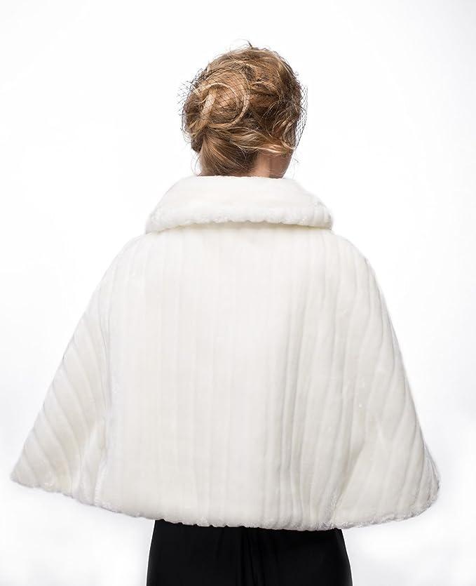 Fake Fur Cape für Brautkleider