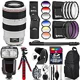 Canon EF 70-300mm IS USM Lens + Pro Flash + 6PC Graduated Filter Set + UV-CPL-FLD Filters + Macro Filter Kit + 72 Monopod + Lens Hood + 32GB Class 10 + Backpack + Tripod - International Version