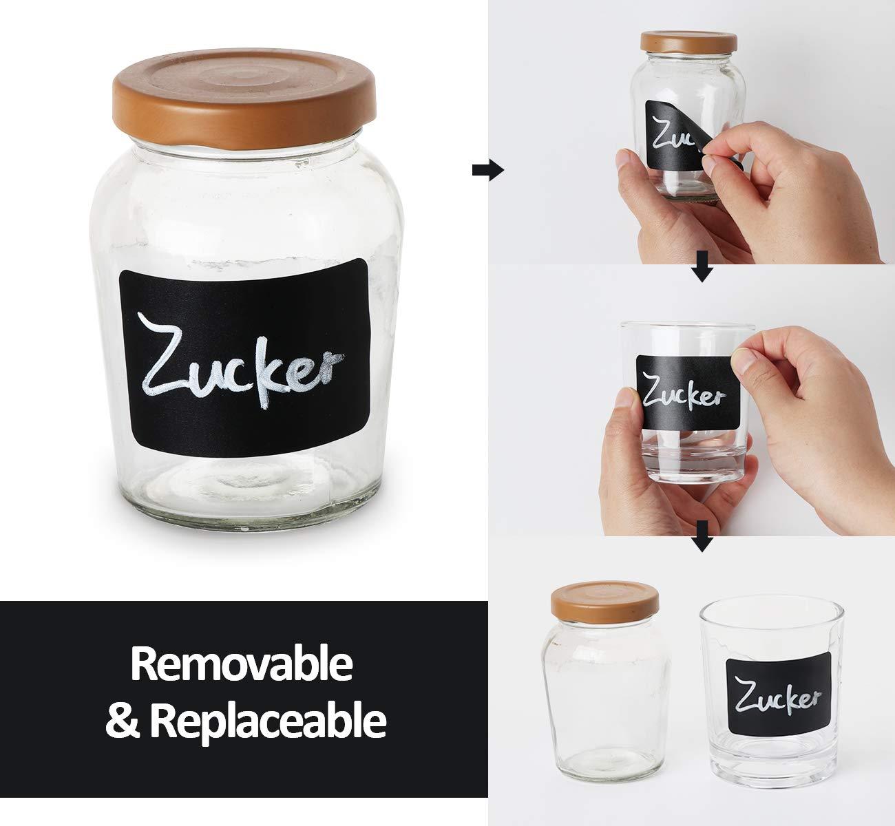 150 Pizarra Etiquetas Adhesivas de Pegatina Reutilizable ...