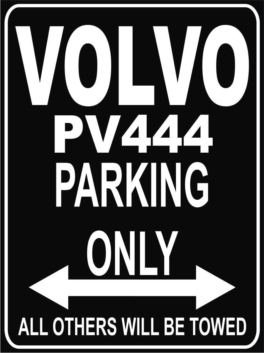 INDIGOS UG Park-volvo-pv444 Parkplatzschild Schwarz
