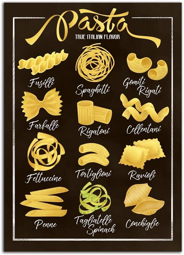Home Decor Pictures Nordic Style Wall Art Canvas Painting Prints Letter Quote Pasta Types Italian Food Poster Framework Living Room Modular