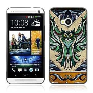 YOYOSHOP [Majestic Owl Illustration] HTC One M7 Case