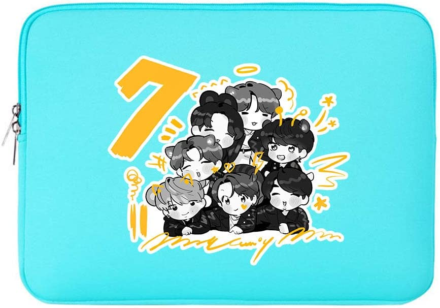 "KPOP BTS Merchandise, BTS Map of The Soul 7 Merch 14 15 15.6 Inch Laptop Sleeve Case Compatible with 14"" 15"" 15.6"" Notebooks"