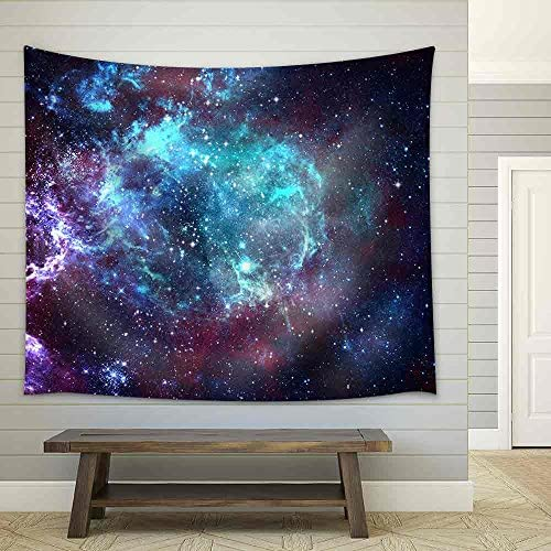 wall26 – Star Field in Space a Nebulae and a Gas Congestion – Fabric Wall Tapestry Home Decor – 68×80 inches