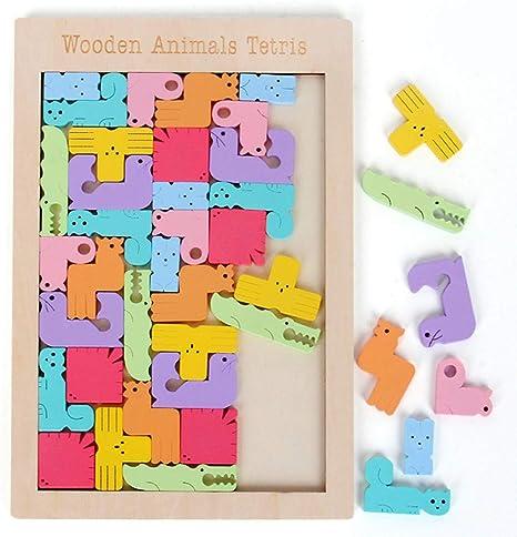 WXX Puzzle Tetris de Madera Tangram Jigsaw Brain Teaser Toy para ...