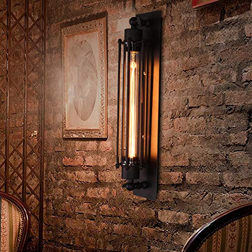 - Flute Wall lamp, Wrought Iron Retro Industrial Wall lamp, Rustic Antique Dining Room Living Room Cafe Wall lamp (Without Light Source) Flute Wall lamp (Individual Packaging) Without Bulb