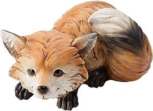 Wind & Weather Furry Fox Indoor/Outdoor Sculpture- 8.75 L x 6.5 W x 4.5 H