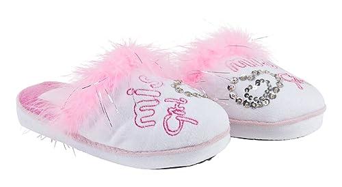 Conguitos Zapatilla de Casa - Zapatillas de casa para niñas, Color Blanco, Talla 28: Amazon.es: Zapatos y complementos