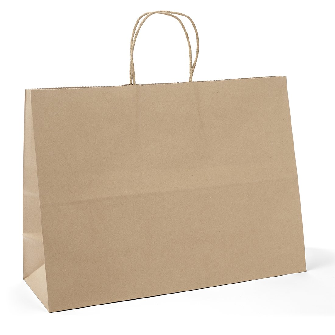 GSSUSA Halulu 100pcs 16x6x12 Inches Kraft Paper Bags Shopping Bag Gift Bags (Brown)