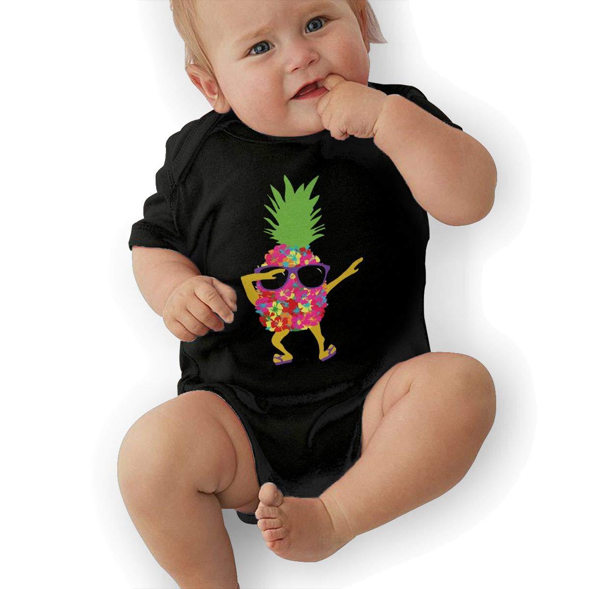 BONLOR Dabbing Cool Sunglasses Pineapple Baby Boys Girls Jumpsuit Overall Romper Bodysuit Summer Clothes Black