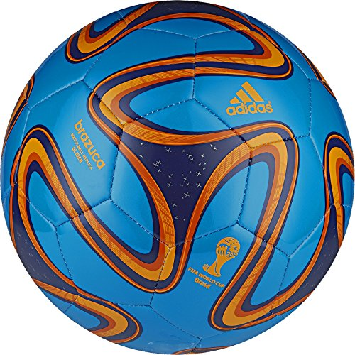 adidas Performance Brazuca Glider Soccer Ball, Solar Blue/Night Blue, 5 Size