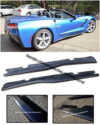 Performance Package (Z06's Z07 Performance Package Style CARBON FIBER Rocker Panel Side Skirts Splitter Extension For 14-Up Corvette C7 Stingray Base 2014 2015 2016 2017 14 15 16 17 Z06)