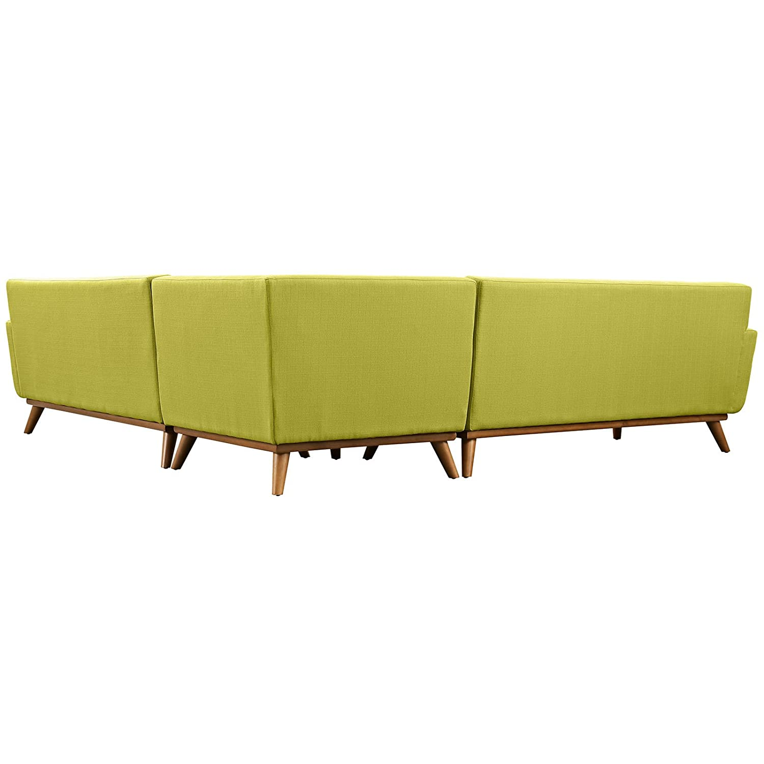 Amazon: Modern Contemporary L-Shaped Sectional Sofa, Green, Fabric:  Kitchen & Dining