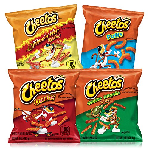 Cheetos Cheese Flavored Snacks Variety Pack, 40 -