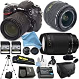 Nikon D7100 18-55mm f/3.5-5.6 DX VR, Nikon 70-300mm f/4-5.6G Nikkor, 2X 16GB Memory Cards, Camera Case