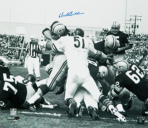- Dick Butkus Autographed/Signed Chicago Bears Packers Pile Action B&W 16x20 Photograph - Authentic Signature