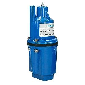 ECD Germany Diafragma de Bomba Sumergible 300W Bomba para pozos Ø 98 mm Velocidad de Flujo 1100 l/h max bomba de pozo fuente tubo regulación bajo tierra agua regulación 2,6 kg irrigación