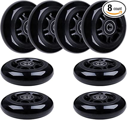 Black /& Green AOWISH 4-Pack Inline Skate Wheels 80mm Rollerblade Replacement Wheel with Bearings ABEC-9