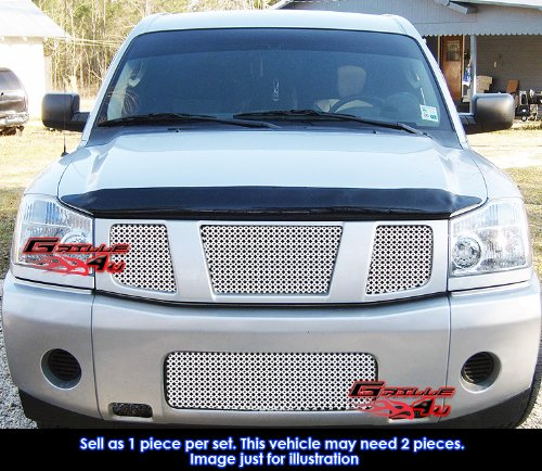 APS A41111O Chrome Grille Replacement for select Nissan Titan Models