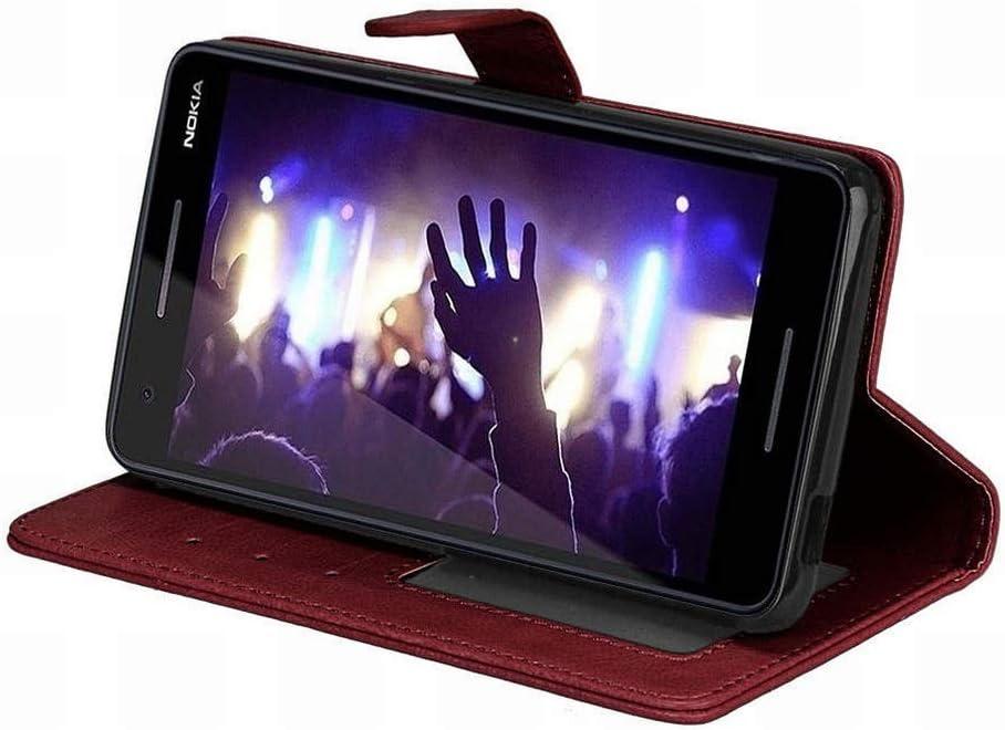 Laybomo Coque Nokia 2.1 Etui Housse PU Cuir Pochette Portefeuille Coque Aimant Protecteur Doux TPU Cover Housse Coque Etui pour Nokia 2.1 Cadre Photo Noir
