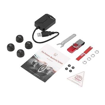 Delicacydex Universal USB Car TPMS Android Sistema de monitoreo de Presión de neumáticos con 4 sensores externos Auto Security Alarm Systems: Amazon.es: ...