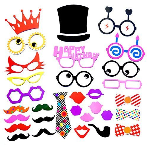 31pcs Funny Photo Party booth DIY Kit for Wedding, Birthday, Evetns & Functions by Wedding (Diy Instagram Selfie Halloween Costume)