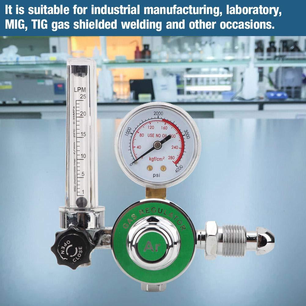 Nitrip Single Tube Argon Riduttore di pressione Valvola di regolazione Uscita filetto maschio G5//8-14 CGA540