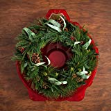 "IRIS USA 24"" Wreath Box, Red 105130"