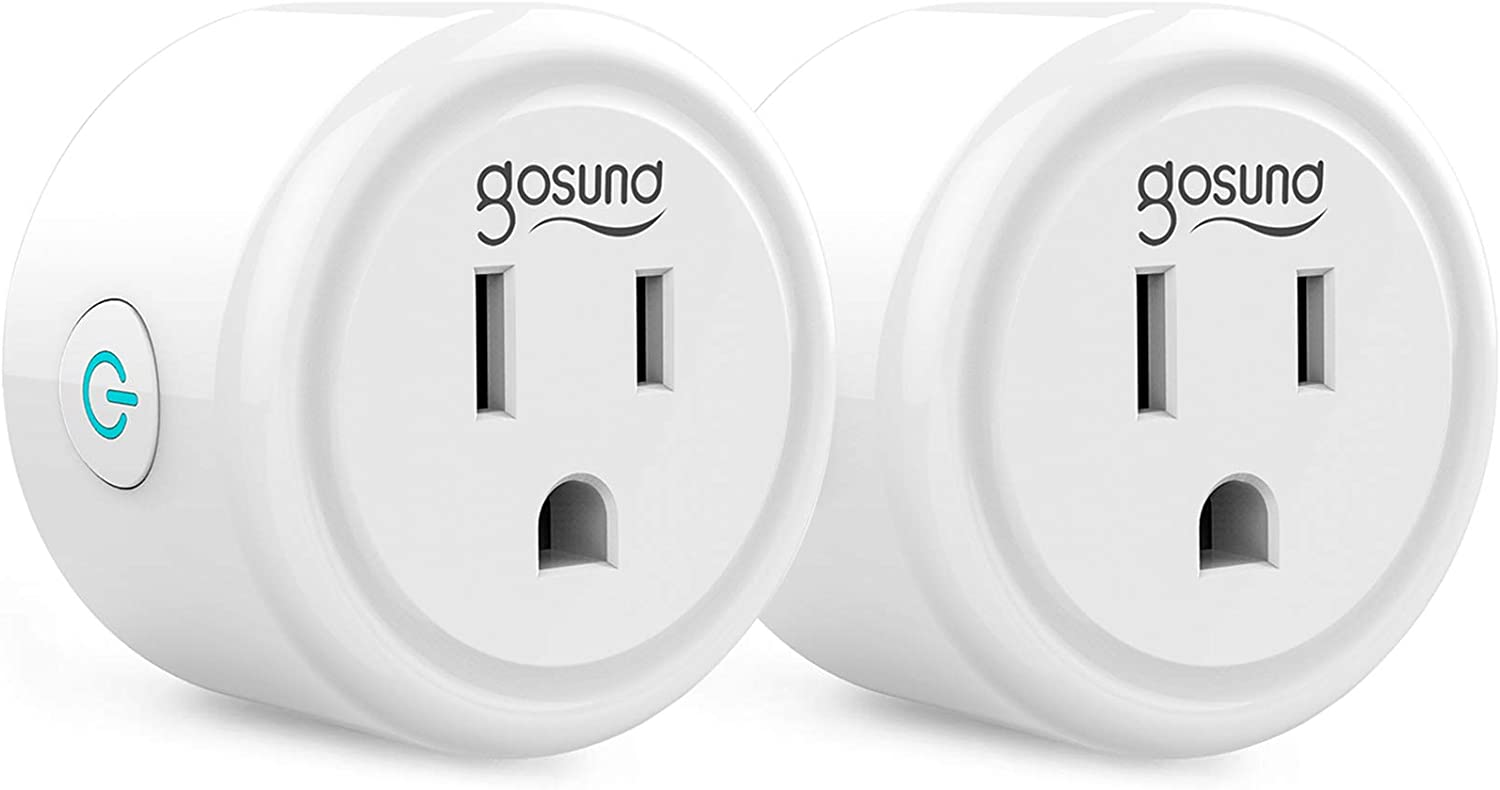 Smart Plug, Gosund WiFi Outlet Mini Socket Work with Alexa and Google Home, Remote Control, No Hub Required, 2.4G WiFi Only Etl Fcc Listed (2 Pack)
