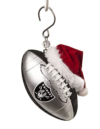 Amazon.com: NFL Oakland Raiders Football Christmas Ornament, Small ...