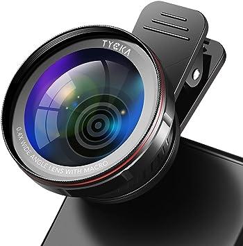 TYCKA Kit de Lentes para cámara de teléfono, 120 ° 0,4X sin distorsión Lente Gran