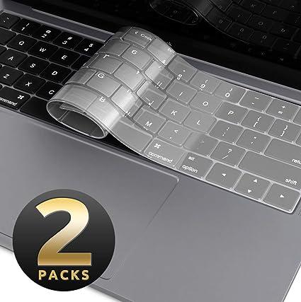 MacBook Air 13 Inch Keyboard Cover [2-Pack], i-Blason Clear