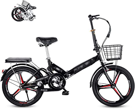 STRTG Bicicleta Plegable Urbana, Bikes Bicicleta Plegable+Marco de Acero Alto Carbono Bike Plegable de Aluminio,16 * 20 Pulgadas Ligera Bicicleta Plegable Urbana para Estudiante Unisex: Amazon.es: Deportes y aire libre