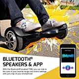 Swagtron T580 Youth Bluetooth Hoverboard with Speaker Smart Self Balancing Wheel, Black