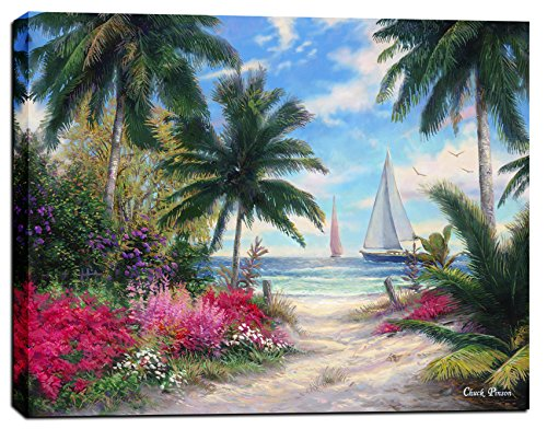 Cortesi Home Cortesi Home Sea Breeze Trail by Chuck Pinson, Giclee Canvas Wall Art, 26