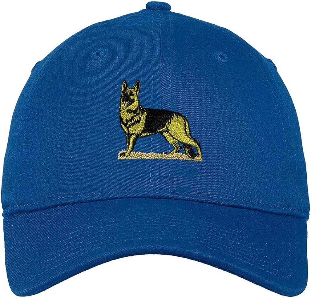 Custom Low/Profile/Soft Hat German Shepherd B Embroidery Dog Name Cotton Dad Hat